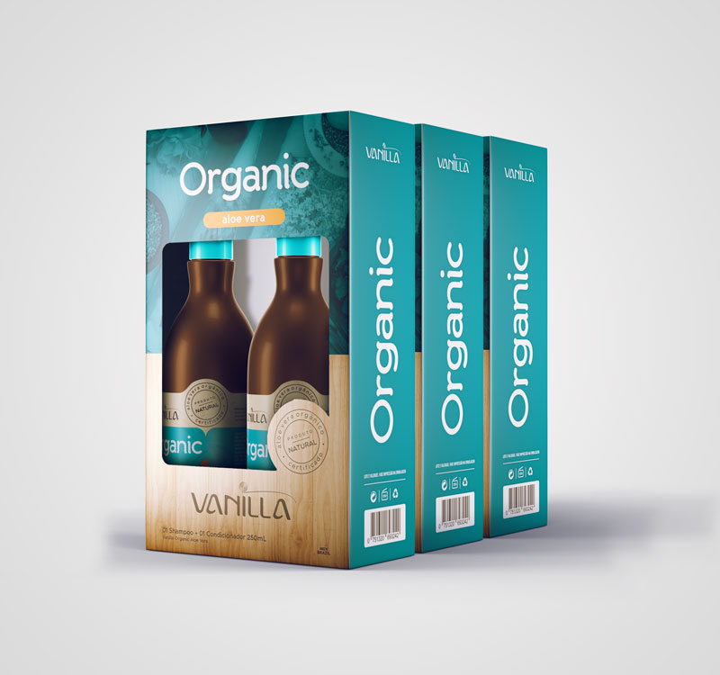 03 Kits - Shampoo e Condicionador Natural Vanilla Organic Aloe Vera de R$164,70 por: