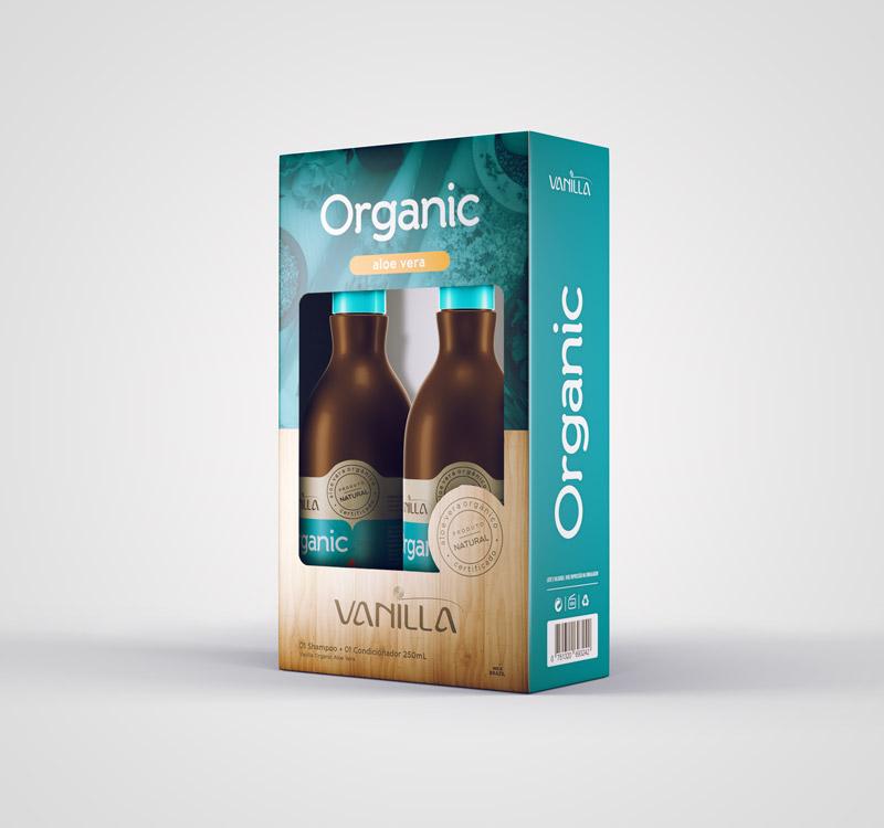 Kit - 01 Shampoo e 01 Condicionador Natural Vanilla Organic Aloe Vera de R$54,90 por: