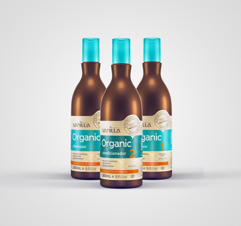 02 Shampoos e 01 Condicionador Natural Vanilla Organic Aloe Vera de R$82,90 por: