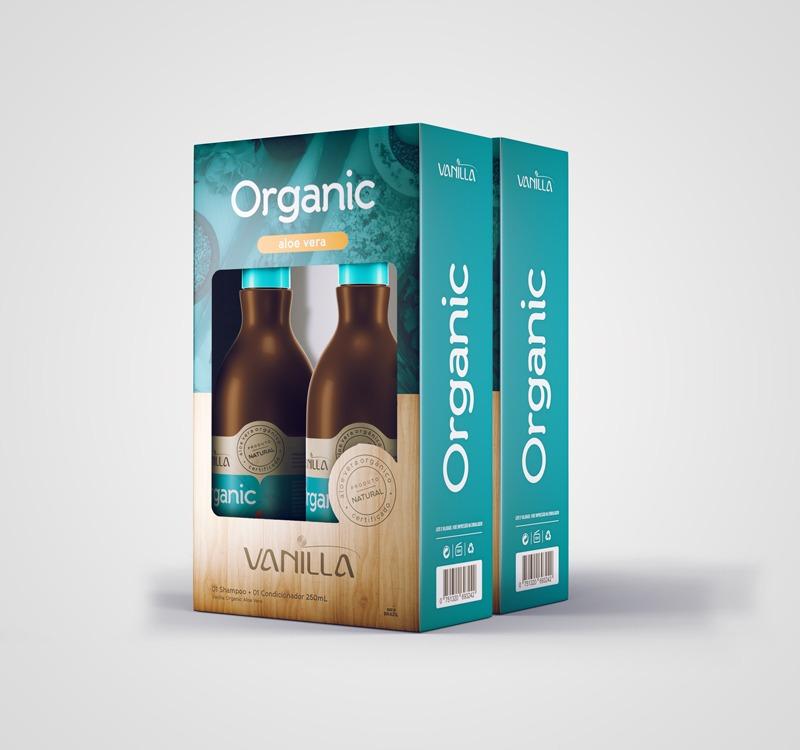 02 kits - Shampoo e Condicionador Natural Vanilla Organic Aloe Vera de R$109,80 por: